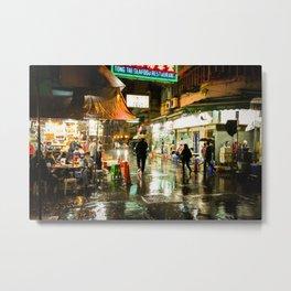 Hong Kong Cafe Yellow Metal Print