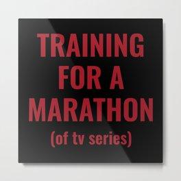Training For A Marathon Metal Print