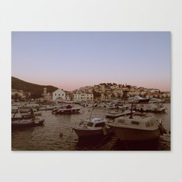 Croatian Harbour Canvas Print