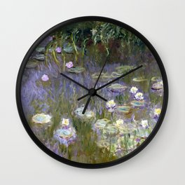 "Claude Monet ""Water lilies""(2) Wall Clock"