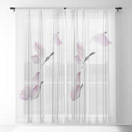 Birds Of A Petal Sheer Curtain
