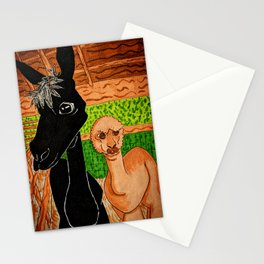 Momma and Baby Alpacas Stationery Cards