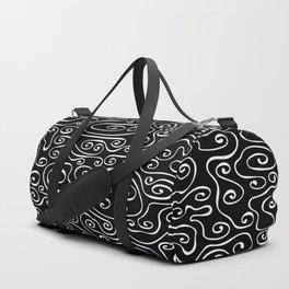 Smoky - white on black Duffle Bag