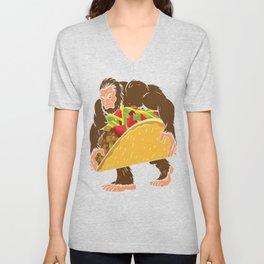 """""""Bigfoot With A Taco Funny Cinco De Mayo T-Shirt """" Unisex V-Neck"""