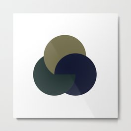 #255 Yin, yang & yom – Geometry Daily Metal Print
