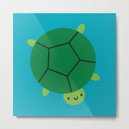 Happy Turtle Metal Print
