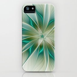 Floral Lights, Abstract Fractal Art iPhone Case