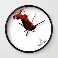 carpe Wall Clocks featuring Carpe Vinum by Xchange Art Studio