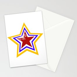vintage-style perforated star Stationery Cards