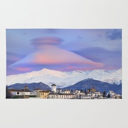 NASA APOD. ASTRONOMY PICTURE OF THE DAY! Lenticular clouds over Granada and Sierra Nevada at sunset Rug