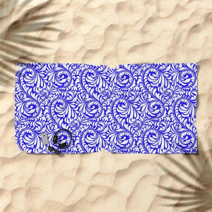 Purple Swirls Beach Towel