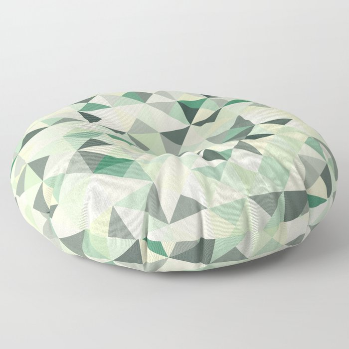 colorful Triangles 2 Floor Pillow