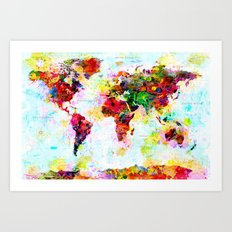 World Map - 4 Art Print