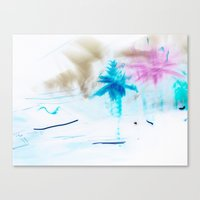 preppy Canvas Prints featuring Preppy Beach by EPART