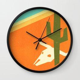 Desert skull Wall Clock