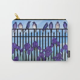 purple martins & purple irises Carry-All Pouch