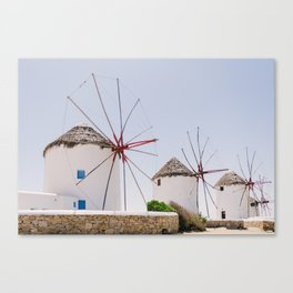 Mykonos windmills Canvas Print