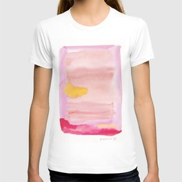 180815 Watercolor Rothko Inspired 10  Colorful Abstract   Modern Watercolor Art T-shirt