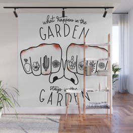 What Happens in the Garden? Wall Mural