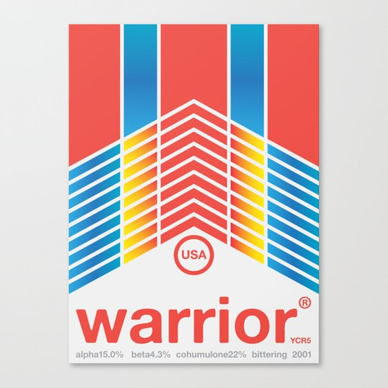 warrior single hop Canvas Print