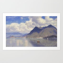 William Stanley Haseltine - Lago Maggiore Art Print