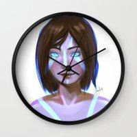 korra Wall Clocks featuring Korra  by JemyArt