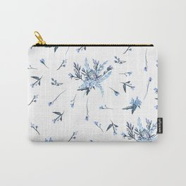 Cute vector rustic pattern with flowers Carry-All Pouch