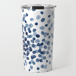 Explosion of Blue Confetti Travel Mug