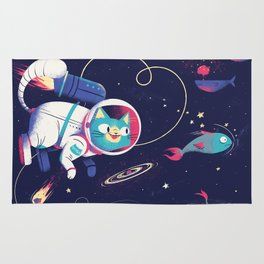 The Adventures of Space Cat Rug
