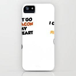Couples love cute eggs bacon iPhone Case