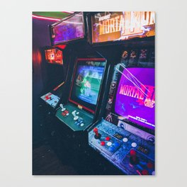Arcade Machines Canvas Print