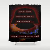 ewok Shower Curtains featuring Vader Day - 023 by Lazy Bones Studios