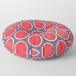 watermelon polka purple Floor Pillow