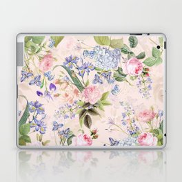 Vintage & Shabby Chic - Pink Redouté Roses Bouquets Pattern Laptop & iPad Skin