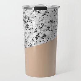 Granite and Hazelnut Color Travel Mug