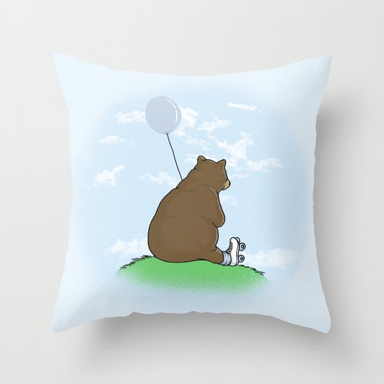 Cloudy the Bear Throw Pillow