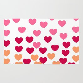 Heart Drops -pink Rug