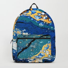 Gold and Blue Flow Backpack