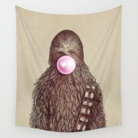 humor Wall Tapestries featuring Big Chew by Eric Fan