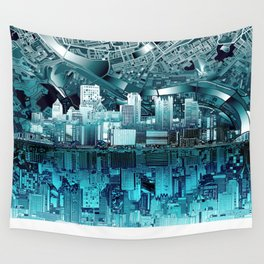 pittsburgh city skyline Wall Tapestry