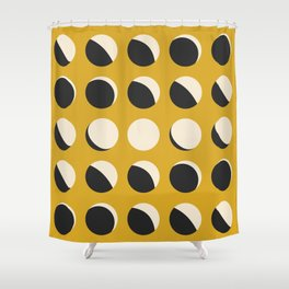 Moon Phased in Honey Shower Curtain