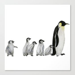 Little penguin says NO I am not going with you Canvas Print
