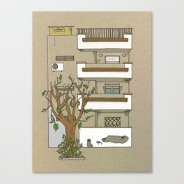 Building nr1 Canvas Print
