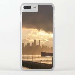 Stormy Harbour Clear iPhone Case
