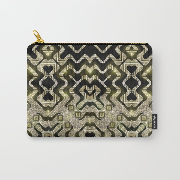 Tribal Gold Glam Carry-All Pouch
