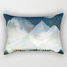 Mountain Lake Under the Starlight Rectangular Pillow