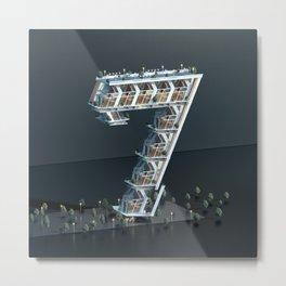 Number Seven Metal Print