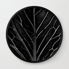 The black leaf Wall Clock
