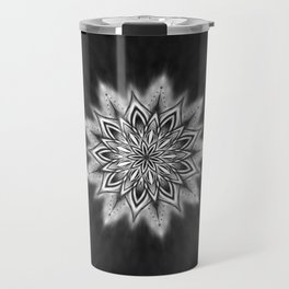 Black Ice Mandala Swirl Travel Mug