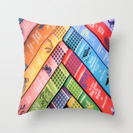 Leather Bound Classics Series - Part 2 Throw Pillow